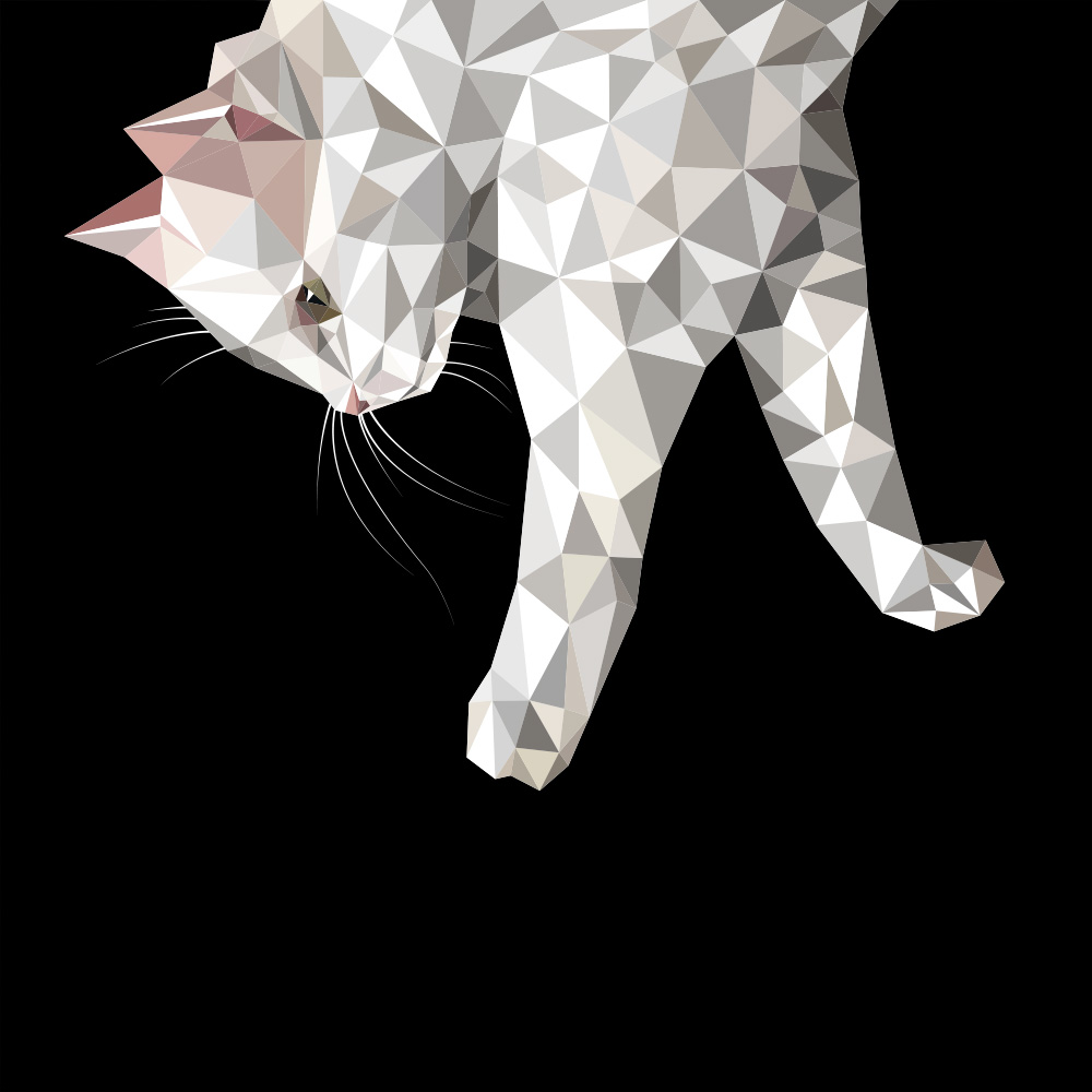 Low Poly Cat Art